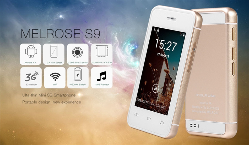 Melrose S9 3G Smartphone Android 4 4 MT6572 2 4
