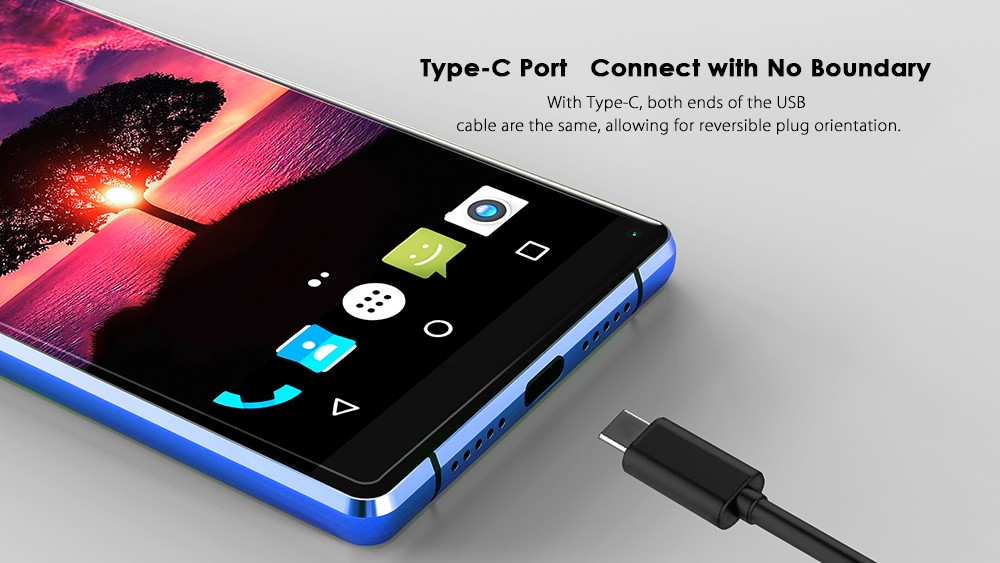 M - HORSE Pure 2 4G Phablet 5.99 inch Android 7.0 MTK6750 Octa Core 4GB RAM 64GB ROM Dual Rear Cameras