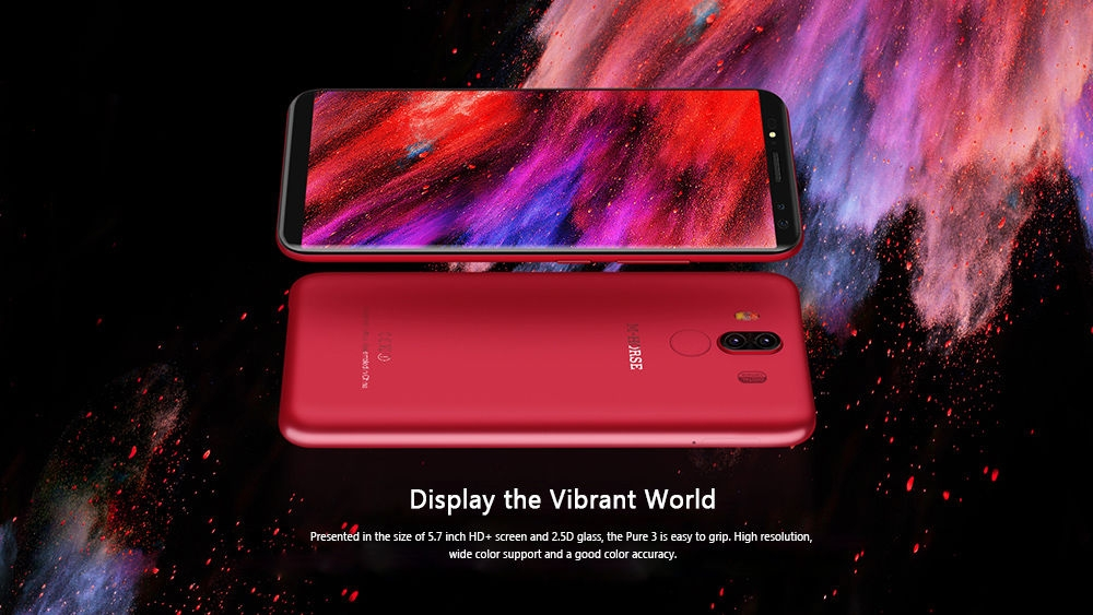 M-HORSE Pure 3 4G Phablet 5.7 inch Android 7.1 MTK6763 Octa Core 2.0GHz 4GB RAM 64GB ROM