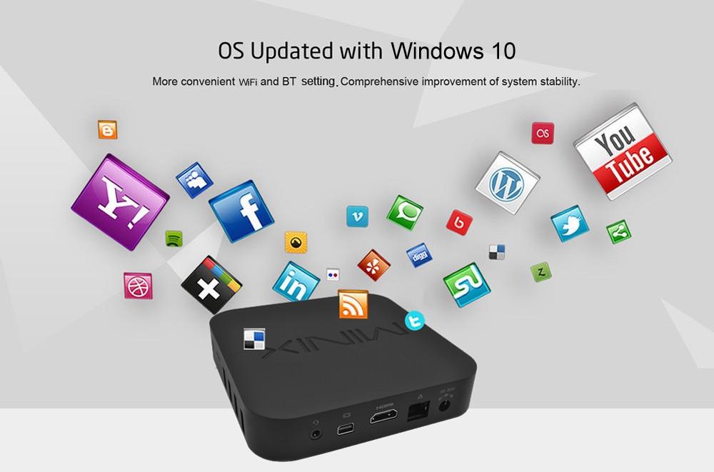 MINIX NEO Z83 - 4 Fanless Mini PC 64bit Windows 10 Intel Atom X5-Z8350 Dual-band WiFi 2.4GHz / 5GHz BT 4.2