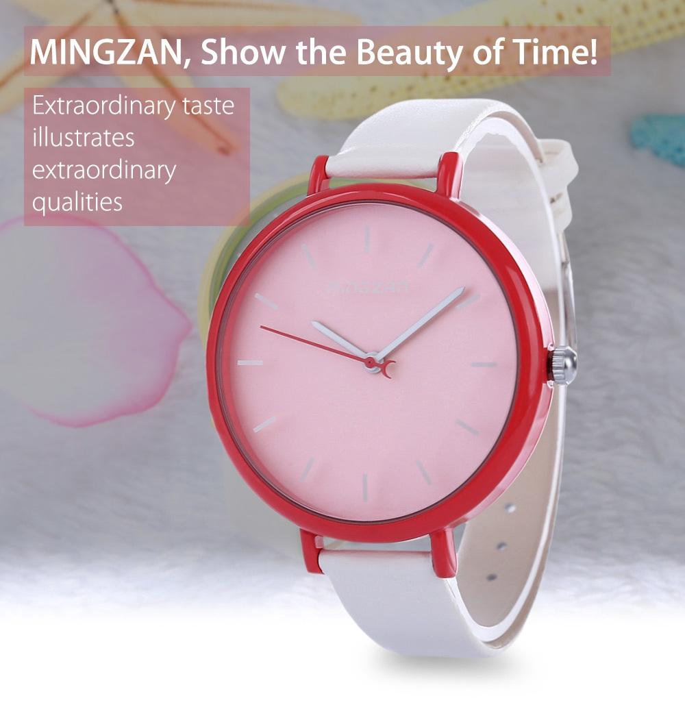 MINGZAN 6207 Women Quartz Watch Stereo Scales Female Wristwatch