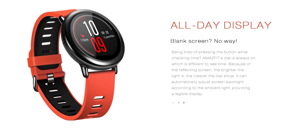 Xiaomi AMAZFIT Bluetooth 4.0 Heart Rate Monitor Sports Smart Watch GPS Real-time Track Wristband