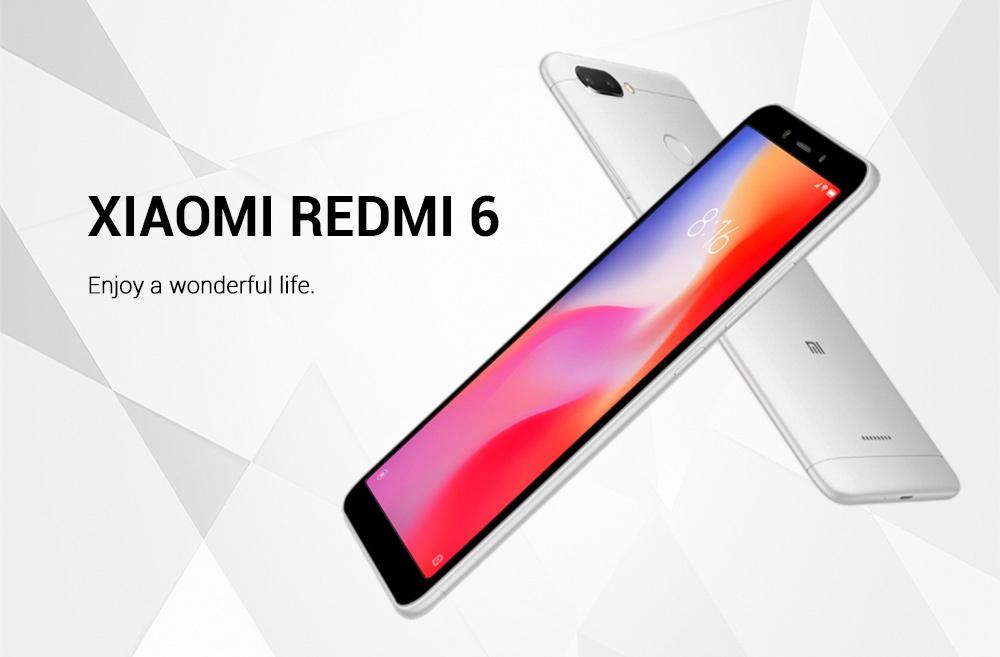 Xiaomi Redmi 6 4G Smartphone Android 8.1 Helio P22 Octa Core 3GB RAM 32GB ROM