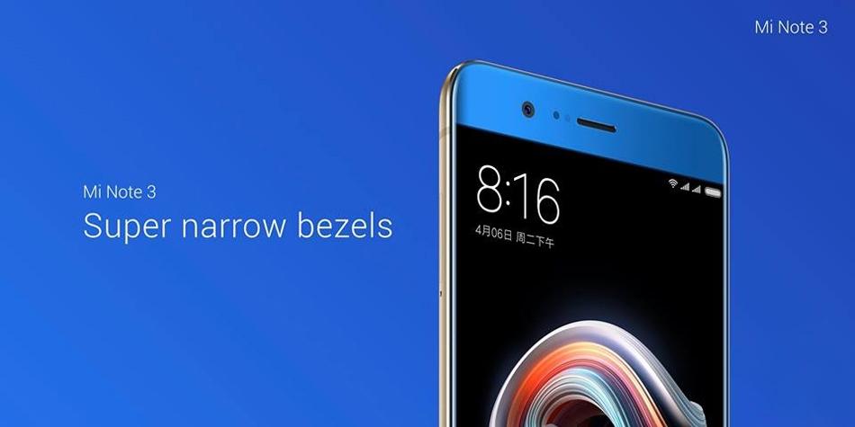 Xiaomi Mi Note 3 5.5 Inch Facial-Recognition 6GB RAM 64GB ROM Snapdragon 660 2.2GHz Octa Core Smartphone