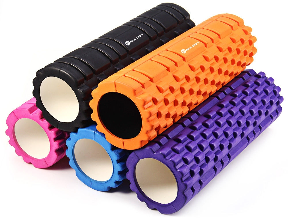 MILY_SPORT Fitness Floating Point EVA Yoga Foam Roller for Physio Massage