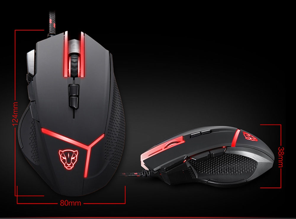Motospeed V18 Gaming Wired Mouse with 4000DPI High Precision Optical 9 Keys
