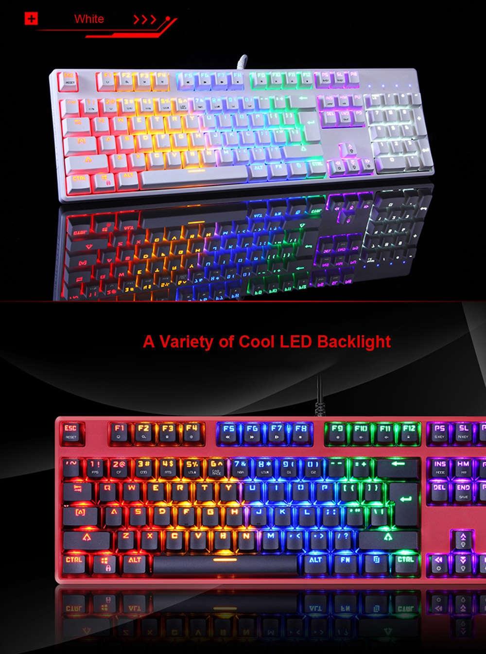 Motospeed CK107 Mechanical Keyboard with LED Backlit