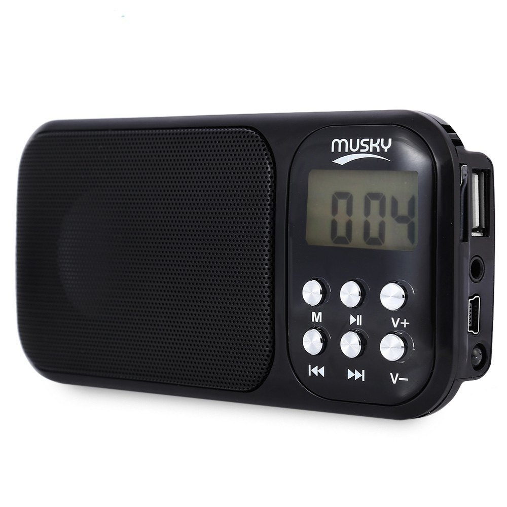musky hj 92 mini portable fm radio speaker mp3 player led flash light black buy online. Black Bedroom Furniture Sets. Home Design Ideas