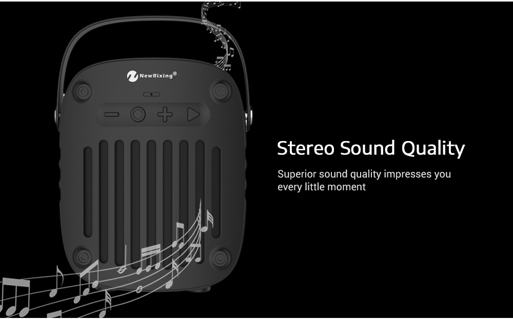 NewRixing NR - 4014 Portable Wireless Bluetooth Stereo Speaker Mini Player