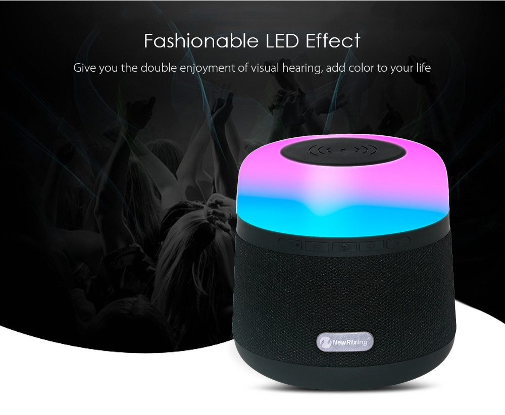 NewRixing NR - 3500 LED Bluetooth Stereo Speaker Wireless Charger Camping Lamp