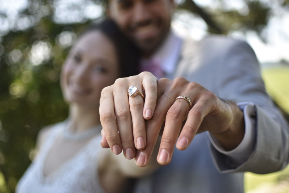 D3400 photo of a bride and groom showing their rings