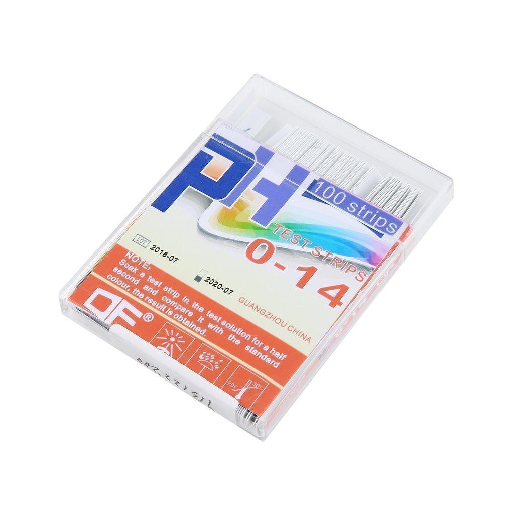 Generic 100 Strip 0-14PH 4 Color Test Paper Alkaline Acid Indicator