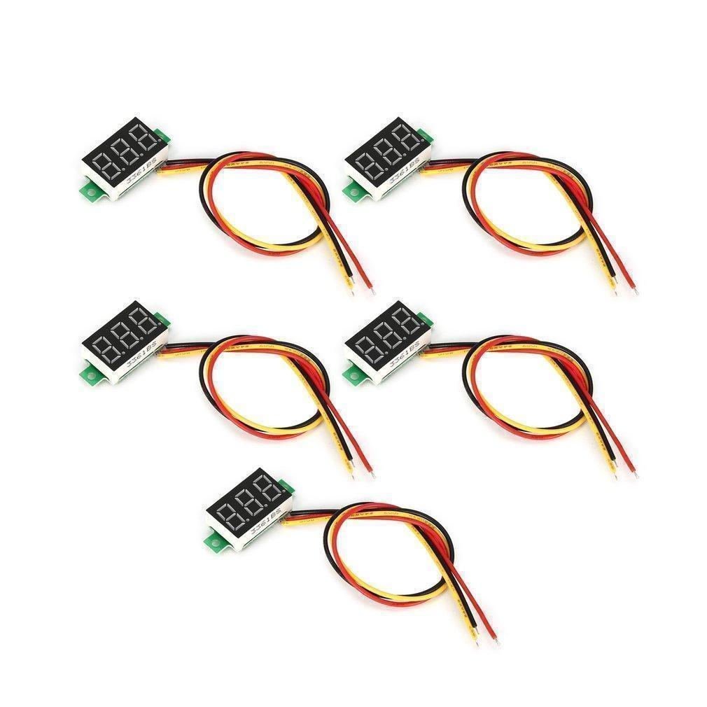 Generic 5PCS 0-100V 0.36in 3 Wire LED Digital Voltmeter ... on