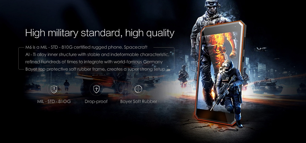 NOMU M6 4G Smartphone 5.0 inch Android 7.0 MTK6737VWT Quad Core 1.5GHz 2GB RAM 16GB ROM 8.0MP Rear Camera 3000mAh Battery