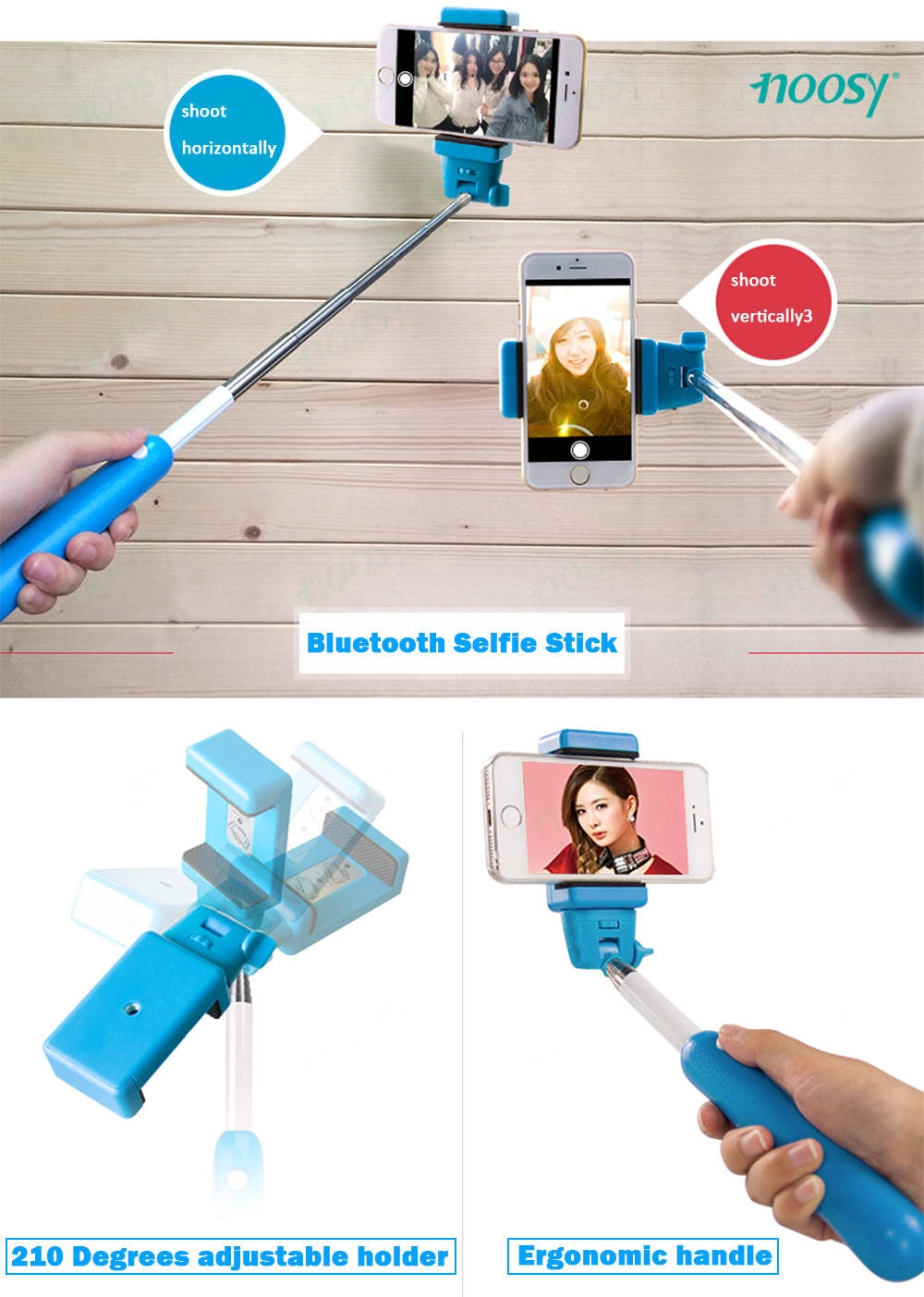 noosy selfie stick monopod self timer smart shooting aid blue buy online jumia kenya. Black Bedroom Furniture Sets. Home Design Ideas
