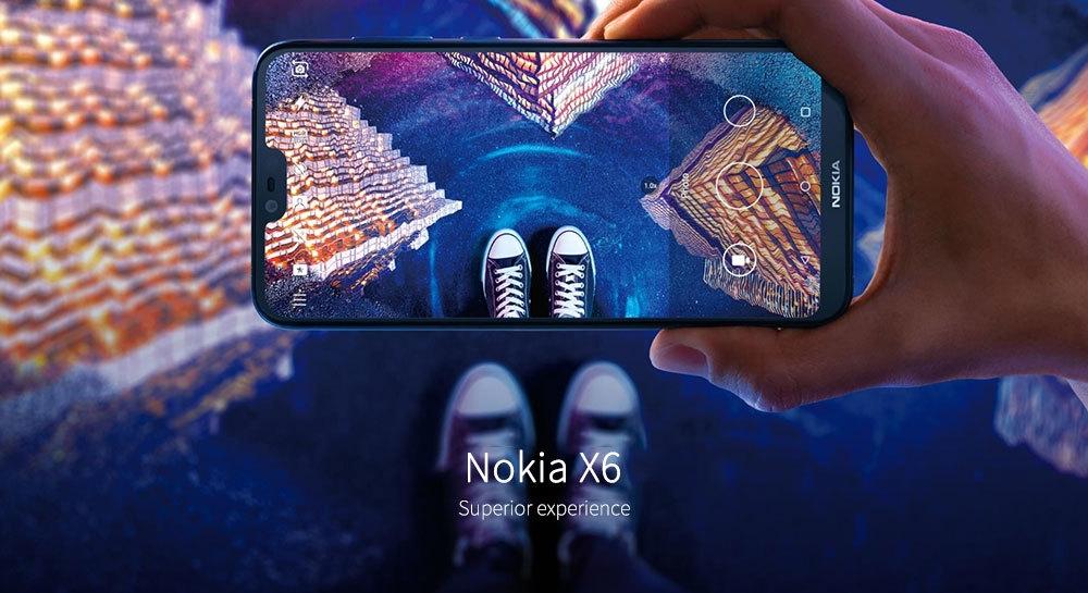 NOKIA X6 4G Phablet 5.8 inch Android 8.1 Qualcomm Snapdragon 636 Octa Core 1.8GHz 6GB RAM 64GB ROM 16.0MP + 5.0MP Rear Camera Fingerprint Sensor 3060mAh Built-in