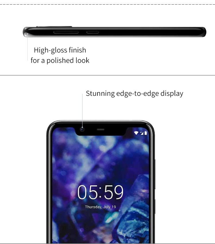 NOKIA X5 3GB RAM 32GB ROM Helio P60 MTK6771 2.0GHz Octa Core 5.86 Inch 2.5D HD+ Full Screen Dual Camera Android 8.1 4G LTE Smartphone