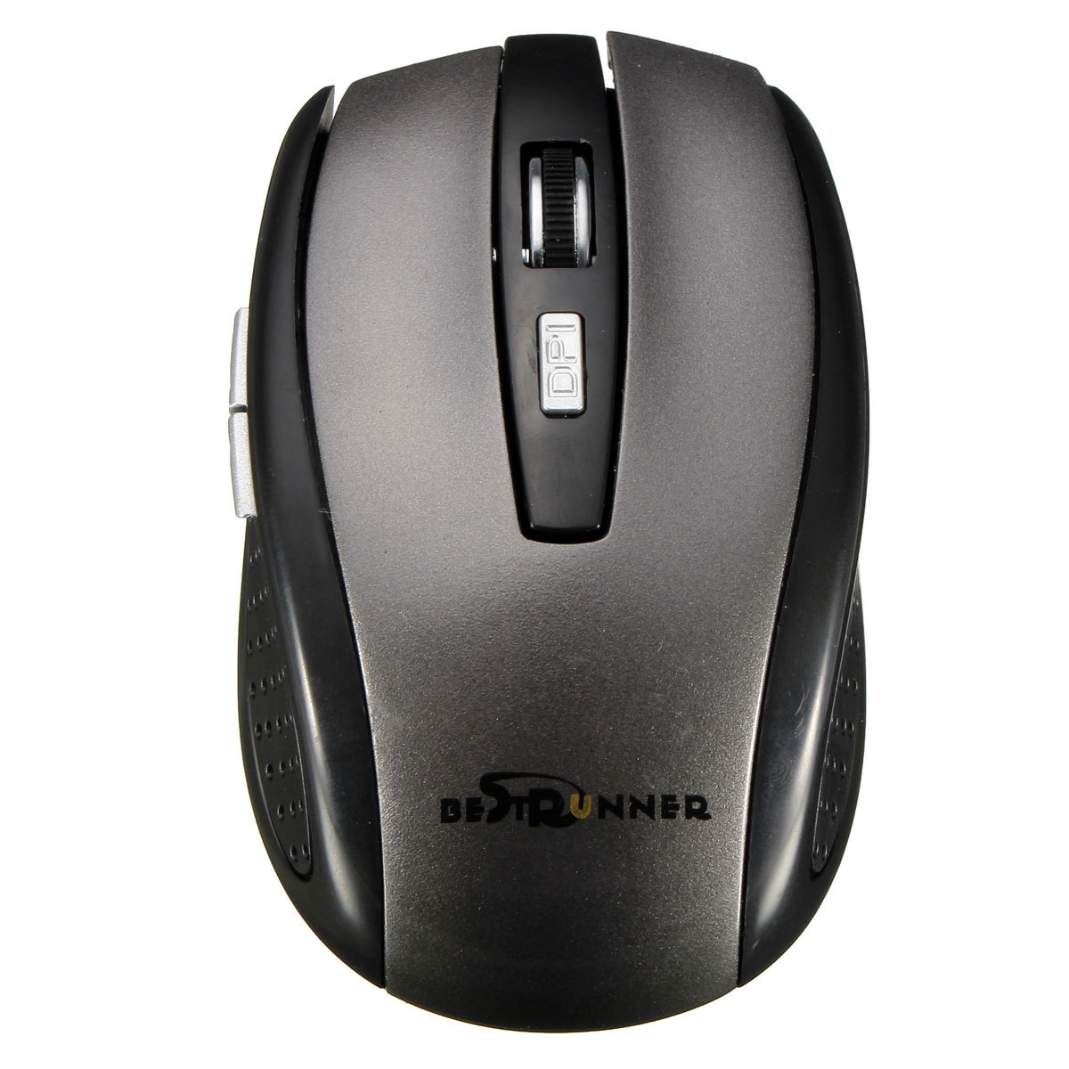 ... BESTRUNNER 2 4G USB WIRELESS OPTICAL MOUSE ADAPTABLE FOR PC BLACK image