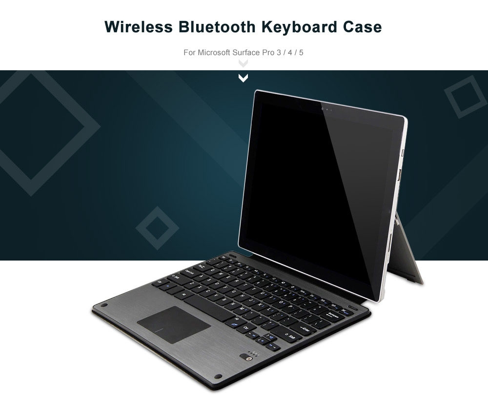 Surface Pro 3 Case -  wireless bluetooth 3 0 keyboard detachable removable pu leather case cover for microsoft surface pro 3