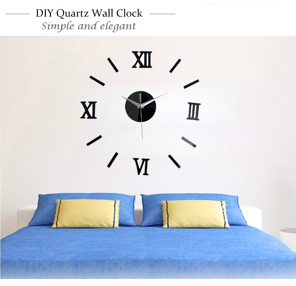 Diy Wall Clock Roman Numerals - Wall Designs