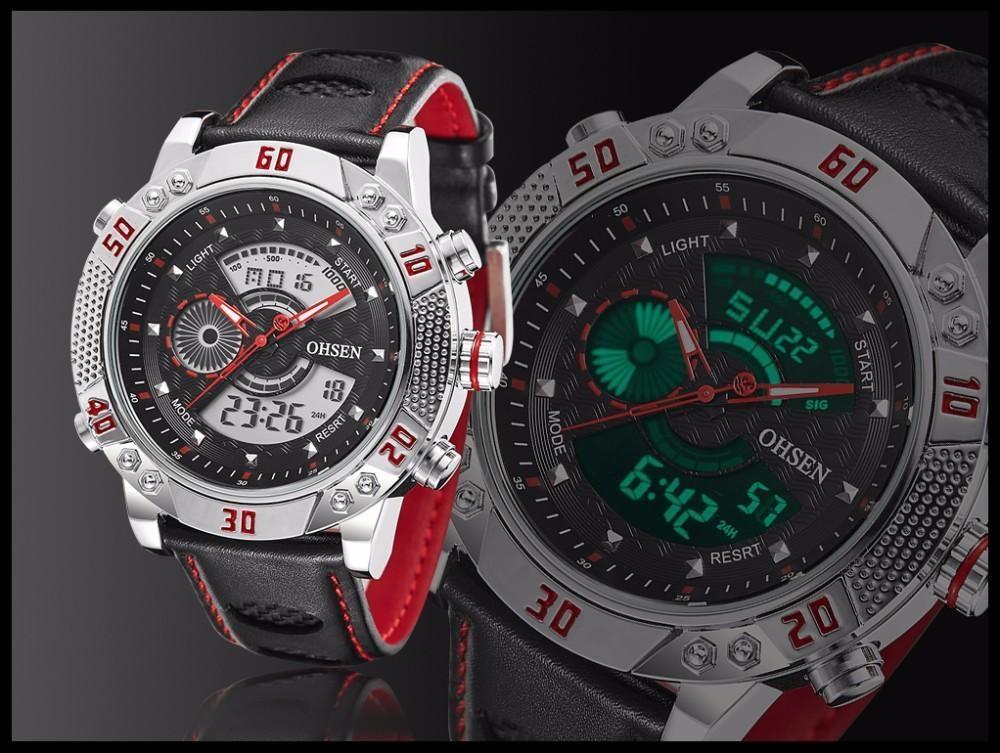 OHSEN Brand Mens Fashion Casual Reloj Quartz Watch Digital LED Relogios Military Relogio Masculino Diving Waterproof Men Watches (23)