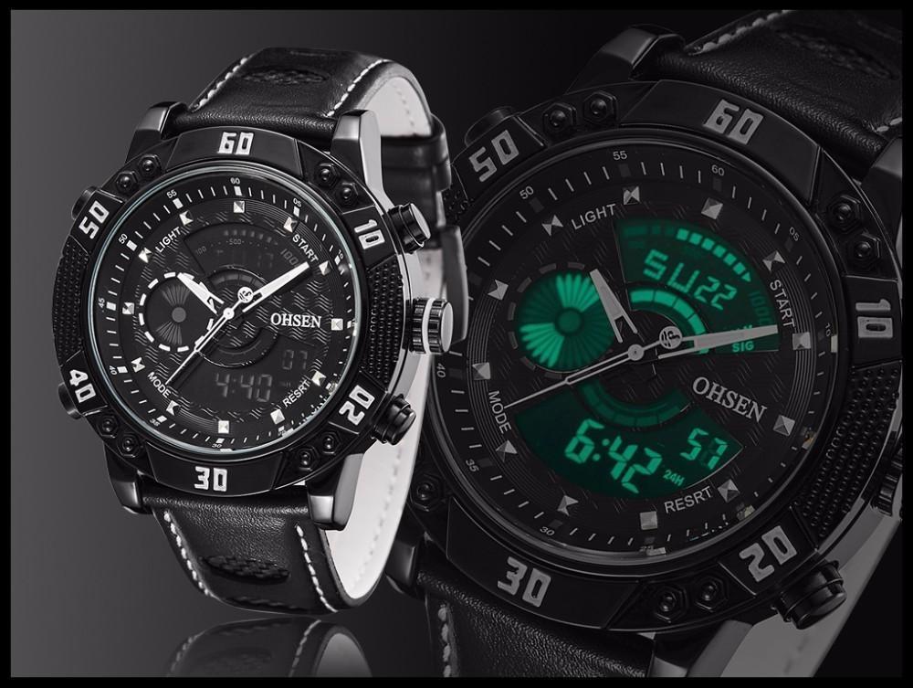 OHSEN Brand Mens Fashion Casual Reloj Quartz Watch Digital LED Relogios Military Relogio Masculino Diving Waterproof Men Watches (19)