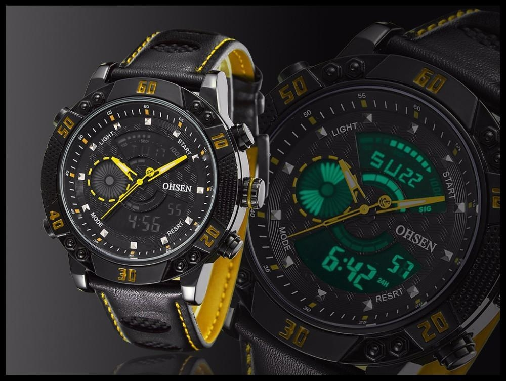 OHSEN Brand Mens Fashion Casual Reloj Quartz Watch Digital LED Relogios Military Relogio Masculino Diving Waterproof Men Watches (17)