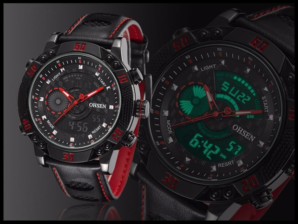 OHSEN Brand Mens Fashion Casual Reloj Quartz Watch Digital LED Relogios Military Relogio Masculino Diving Waterproof Men Watches (16)