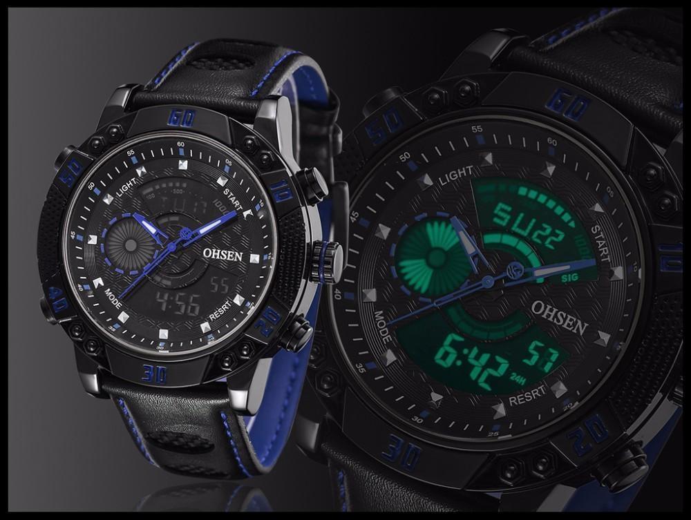 OHSEN Brand Mens Fashion Casual Reloj Quartz Watch Digital LED Relogios Military Relogio Masculino Diving Waterproof Men Watches (18)