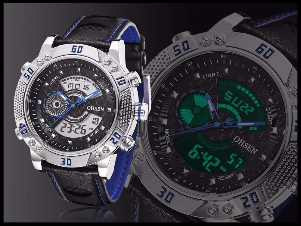 OHSEN Brand Mens Fashion Casual Reloj Quartz Watch Digital LED Relogios Military Relogio Masculino Diving Waterproof Men Watches (22)