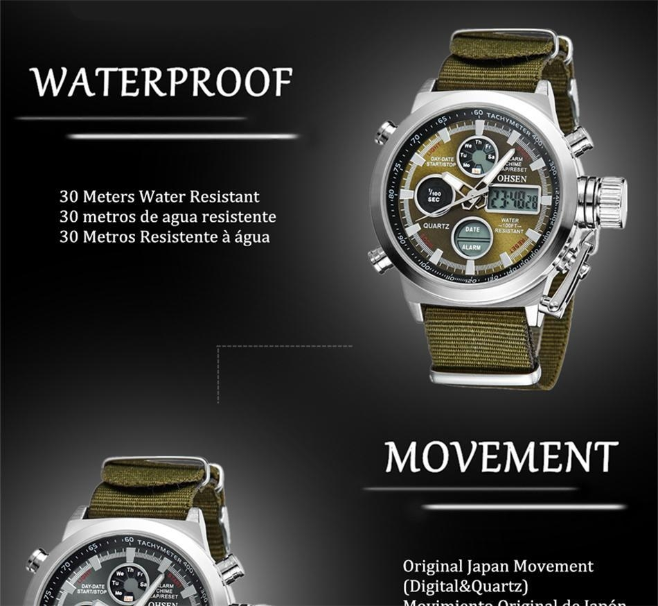 OHSEN Army Watches Men Luxury Brand Men's Sports 30m LED Military Watches  Fashion Casual Quartz Watch Relogio Masculino (42)