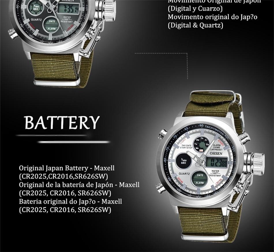 OHSEN Army Watches Men Luxury Brand Men's Sports 30m LED Military Watches  Fashion Casual Quartz Watch Relogio Masculino (43)