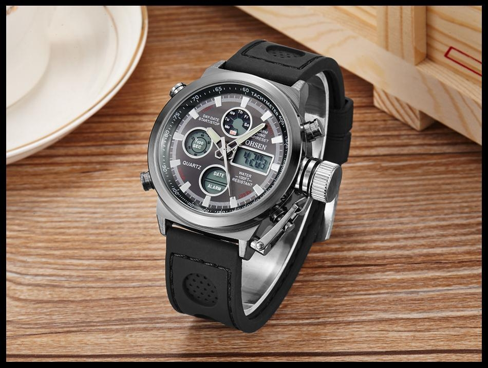 OHSEN Army Watches Men Luxury Brand Men's Sports 30m LED Military Watches  Fashion Casual Quartz Watch Relogio Masculino (28)