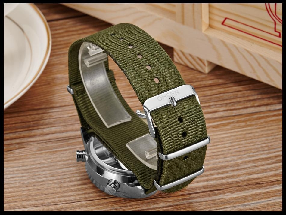 OHSEN Army Watches Men Luxury Brand Men's Sports 30m LED Military Watches  Fashion Casual Quartz Watch Relogio Masculino (22)