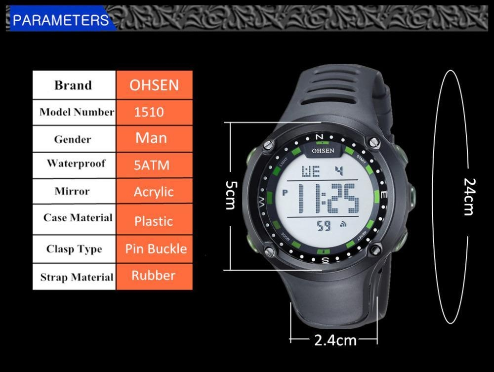 2017 New OHSEN Brand Men LED Digital Military Watch, 50M Dive Swim Dress Sports Watches Fashion Outdoor Wristwatches Men (4)