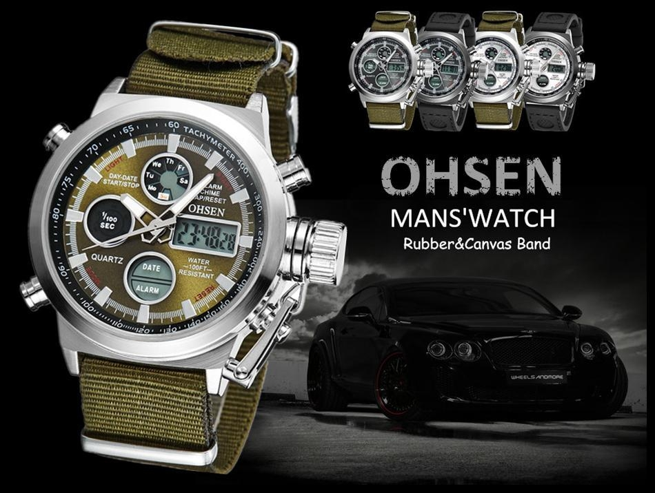 OHSEN Army Watches Men Luxury Brand Men's Sports 30m LED Military Watches  Fashion Casual Quartz Watch Relogio Masculino (15)