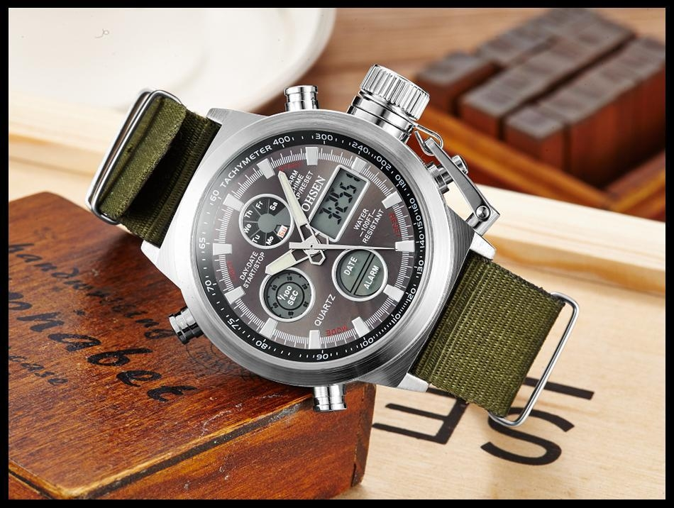 OHSEN Army Watches Men Luxury Brand Men's Sports 30m LED Military Watches  Fashion Casual Quartz Watch Relogio Masculino (20)
