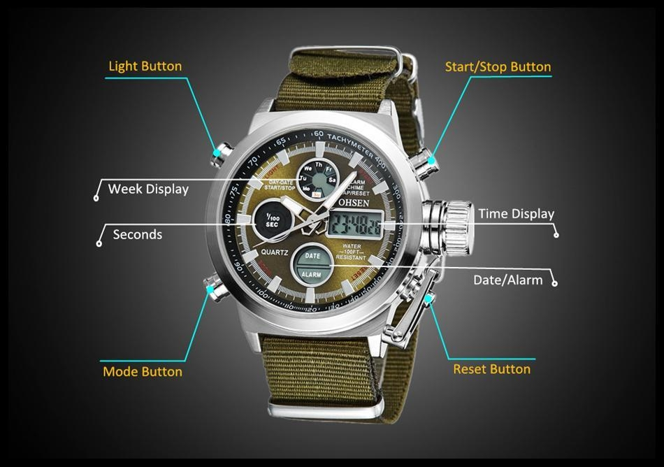 OHSEN Army Watches Men Luxury Brand Men's Sports 30m LED Military Watches  Fashion Casual Quartz Watch Relogio Masculino (17)