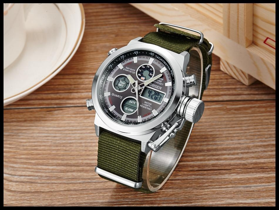 OHSEN Army Watches Men Luxury Brand Men's Sports 30m LED Military Watches  Fashion Casual Quartz Watch Relogio Masculino (21)