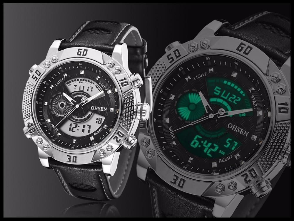 OHSEN Brand Mens Fashion Casual Reloj Quartz Watch Digital LED Relogios Military Relogio Masculino Diving Waterproof Men Watches (21)
