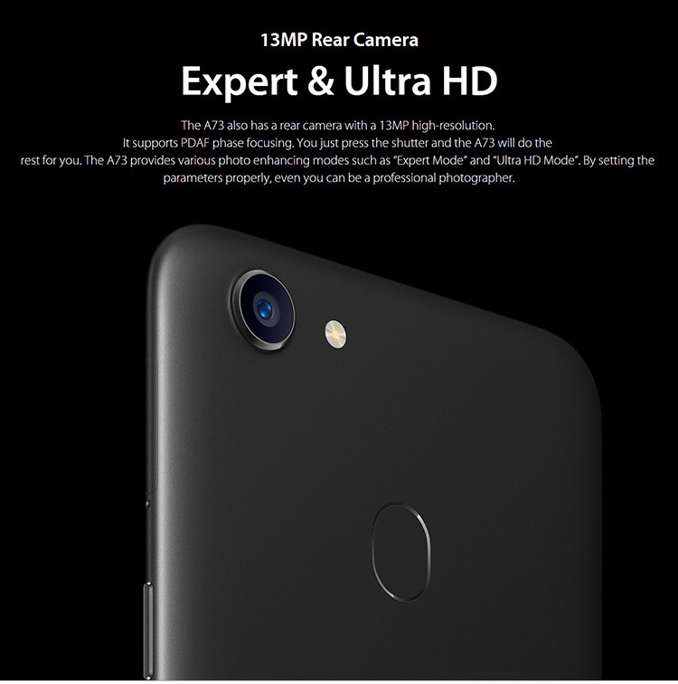 Oppo A73 4GB+64GB 6 0 Inch FHD+Full Screen Android 7 1 Dual SIM