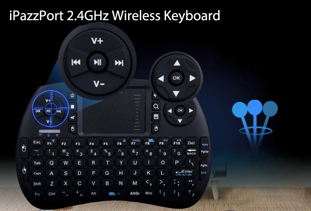 iPazzPort KP - 810 - 21S 2.4GHz RF Wireless Hand-held Keyboard Touchpad