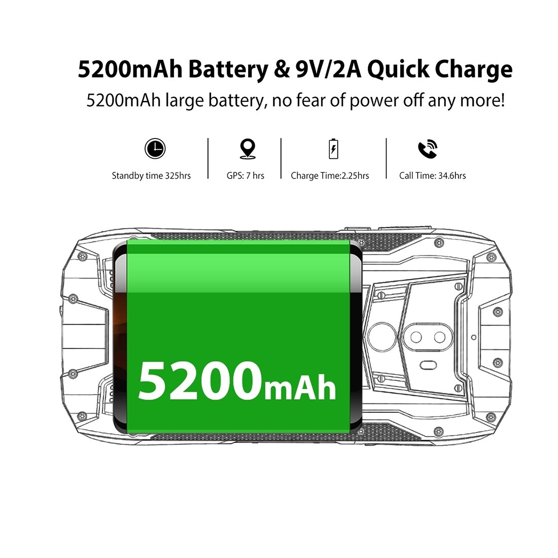 Buy Oukitel Wp5000 6gb 64gb 5200mah Battery 57 Inch Android 71 P25 Wiring Diagram Image
