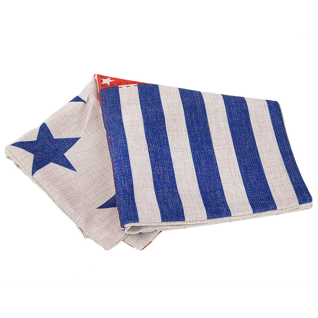 Q148 - Stars and Stripes 18 Inch Square Linen/Cotton Throw Pillow - Jumia Kenya