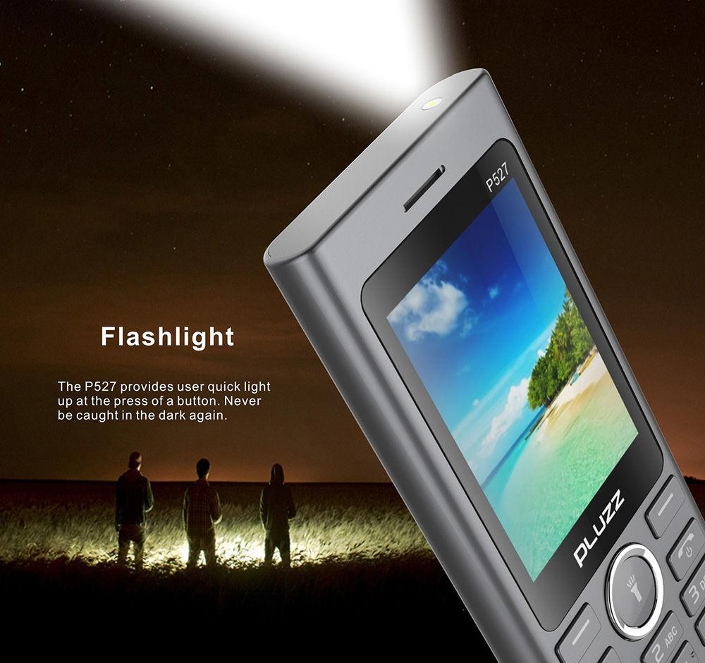 PLUZZ P527 2.4 inch QVGA 2030 Speaker Feature Phone Dual SIM Card LED Flashlight