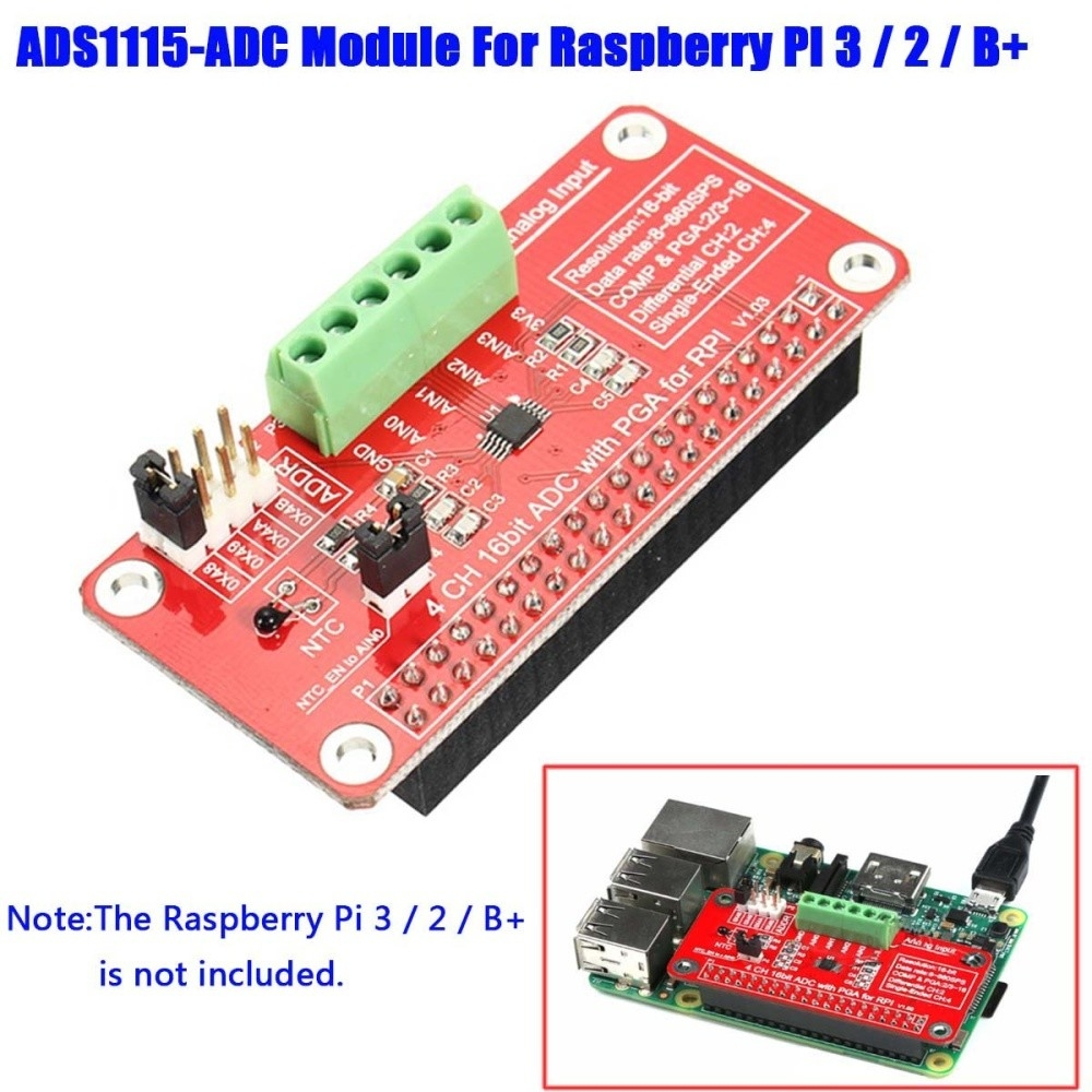 SQ Mobile 16 Bits I2C ADS1115 Module ADC 4 Channel for