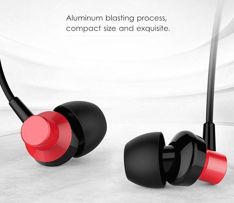 Remax RM-512 3.5mm Wired Music Earphone Heavy Bass In-ear Headphone for iPhone Samsung Xiaomi
