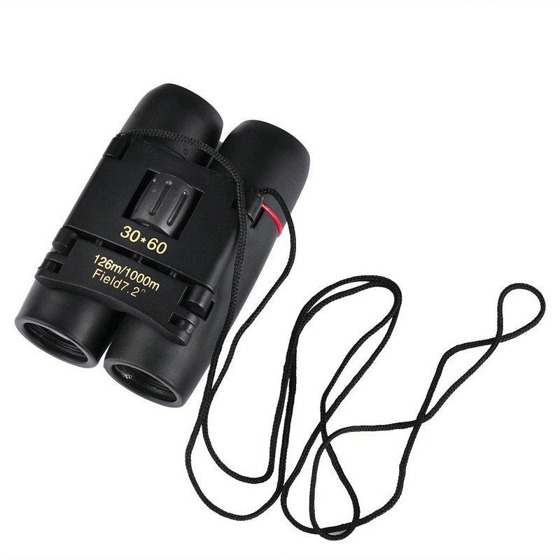 Telescopes Outdoor Portable Travel Sakura Night Vision Mini 30x60 Binoculars Telescopes black 6CM 3