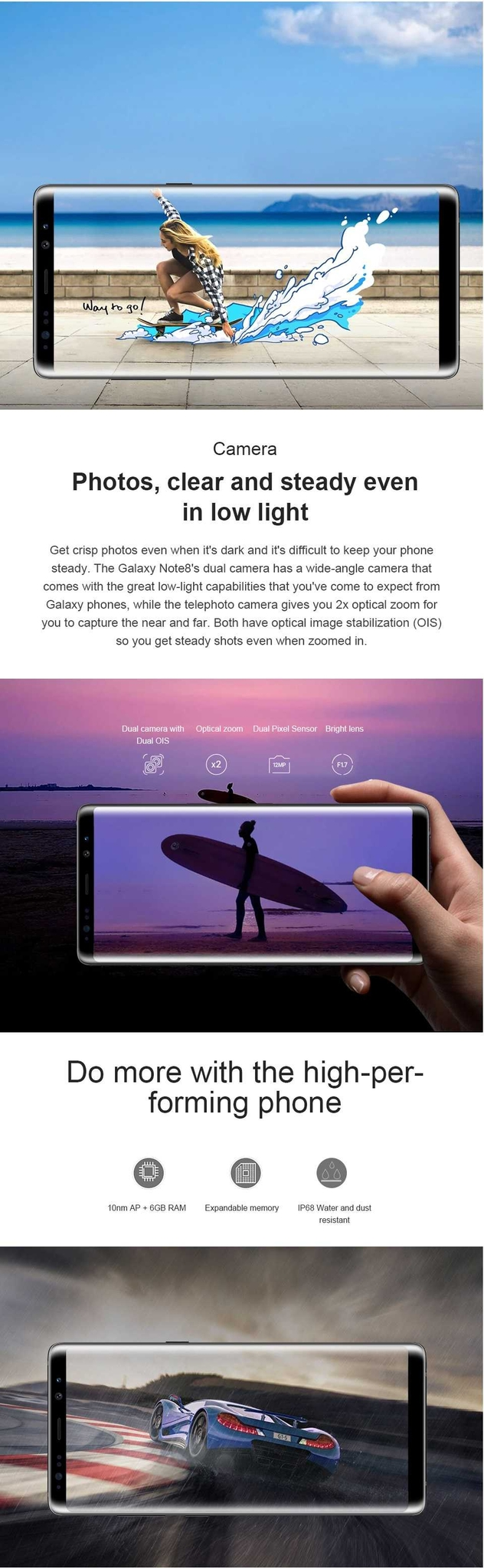Samsung Galaxy Note8 Note 8 N950U 4G  Android Phone Octa Core 6.3