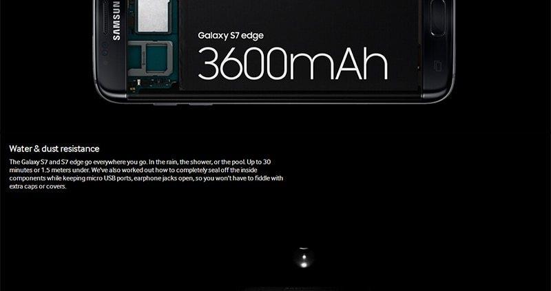 "Samsung Galaxy S7 Edge LTE Mobile Phone 5.5"" 4GB RAM 32GB ROM 12.0MP Camera NFC Smartphone black 6"